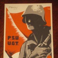 Postales: ANTIGUA POSTAL DE LA GUERRA CIVIL - U.G.T. - P.S.U. - DEL BANDO REPUBLICANO - AVANT ! - ILUSTRADOR C. Lote 26518049
