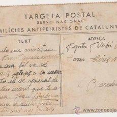Postales: TARGETA POSTAL SERVEI NACIONAL MILICIES ANTIFEIXISTES DE CATALUNYA. Lote 26504400