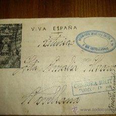 Postales: TARJETA CARTA MILITAR DE GUERRA FRANCO ,GENERAL MOLA, QUEIPO LLANO 1937 . Lote 27673320