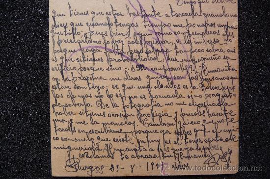 Postales: (JX-543)TARJETA POSTAL ENVIADA DESDE LA LA PRISION CENTRAL DE BURGOS 9ªBRIGADA DE HIGIENE - Foto 3 - 27674385