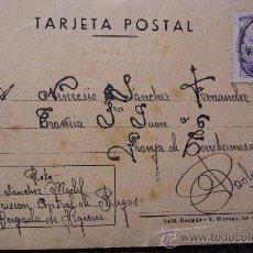 Postcards - (JX-544)TARJETA POSTAL ENVIADA DESDE LA LA PRISION CENTRAL DE BURGOS 9ªBRIGADA DE HIGIENE - 27674409