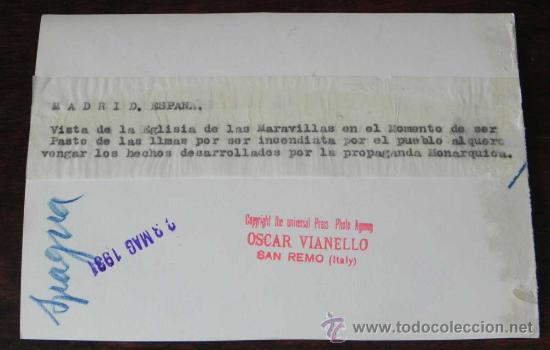 Postales: ANTIGUA FOTOGRAFIA DE LA PLAZA PROGRESO TIRSO DE MOLINA - MADRID - VIOLENTA CARGA DE LA FUERZA PUBLI - Foto 3 - 27807309