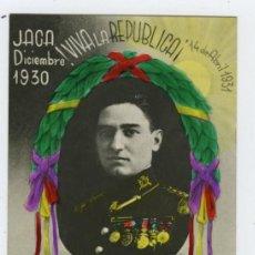 Postales: POSTAL CAPITÁN ANGEL GARCÍA HERNÁNDEZ, MÁRTIR DE LA REPÚBLICA, DICIEMBRE 1930 JACA, 14 ABRIL 1931 . Lote 27862794