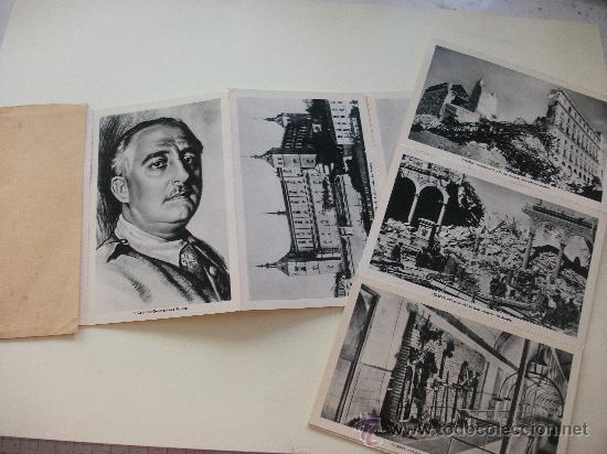 LAS 11 POSTALES DEL ALCAZAR DE TOLEDO, EN SU ESTUCHE (Postales - Postales Temáticas - Guerra Civil Española)