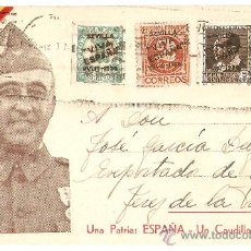 Postales: POSTAL PATRIÓTICA.FRANCO.UNA PATRIA ESPAÑA.UN CAUDILLO FRANCO. Lote 27959300