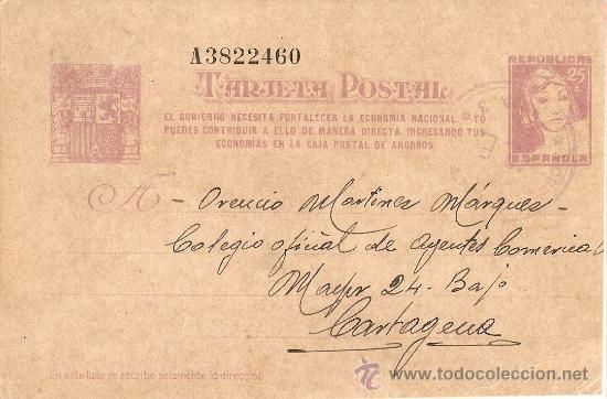 TARJETA ENVIADA EL 1 DE JUNIO DE 1938.DESDE FALSET(TARRAGONA) A CARTAGENA (MURCIA) (Postales - Postales Temáticas - Guerra Civil Española)