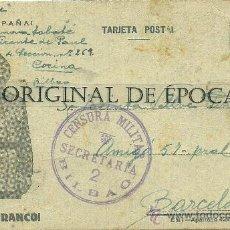 Postales: (XJ-44)TARJETA POSTAL ENVIADA DESDE EL CAMPO DE CONCENTRACION COLEGIO PATRONATO(BILBAO)-GUERRA CIVIL. Lote 28123556