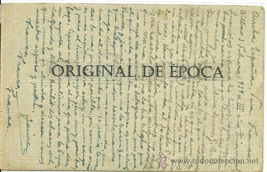 Postales: (XJ-44)TARJETA POSTAL ENVIADA DESDE EL CAMPO DE CONCENTRACION COLEGIO PATRONATO(BILBAO)-GUERRA CIVIL - Foto 2 - 28123556