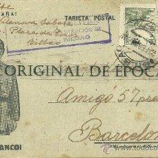 Postales: (XJ-46)TARJETA POSTAL ENVIADA DESDE EL CAMPO DE CONCENTRACION COLEGIO PATRONATO(BILBAO)-GUERRA CIVIL. Lote 28123611