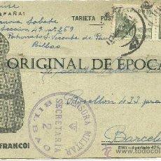 Postales: (XJ-48)TARJETA POSTAL ENVIADA DESDE EL CAMPO DE CONCENTRACION COLEGIO PATRONATO(BILBAO)-GUERRA CIVIL. Lote 28123661