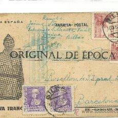 Postales: (XJ-53)TARJETA POSTAL ENVIADA DESDE EL CAMPO DE CONCENTRACION COLEGIO PATRONATO(BILBAO)-GUERRA CIVIL. Lote 28123749