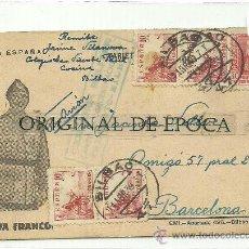 Postales: (XJ-55)TARJETA POSTAL ENVIADA DESDE EL CAMPO DE CONCENTRACION COLEGIO PATRONATO(BILBAO)-GUERRA CIVIL. Lote 28123777