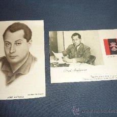 Postales: LOTE DE 2 POSTALES DE JOSE ANTONIO PRIMO DE RIVERA, FUNDADOR DE FALANGE. GUERRA CIVIL. . Lote 28774643