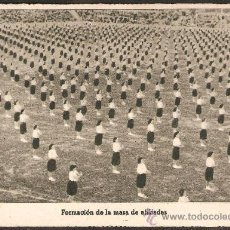 Postales: SECCION FEMENINA DE FET Y DE LAS JONS. FORMACION DE LA MASA DE AFILIADOS. Lote 28859502