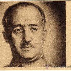 Postales: BONITA POSTAL - FRANCISCO FRANCO - FIRMA IMPRESA EN MARGEN DERECHO. Lote 190037946