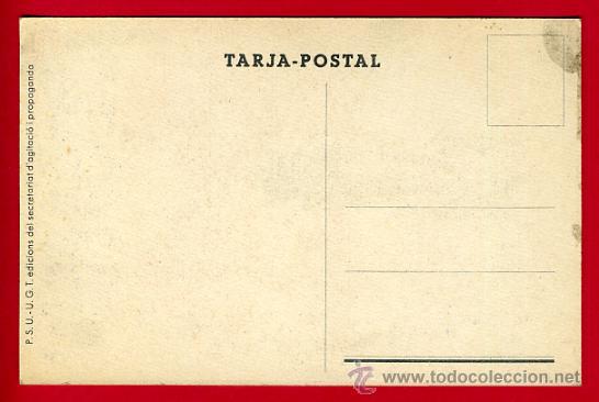 Postales: POSTAL GUERRA CIVIL ESPAÑOLA, UGT PSU , ASSASSINS ! , ORIGINAL - Foto 2 - 30007417