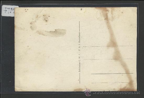 Postales: BARCELONA - 5 - DESTRUCCION DE PROPAGANDA FASCISTA - EDICIONES CNT- FAI - (8917) - Foto 2 - 30375649