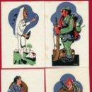 Postales: LOTE DE 4 POSTALES , GUERRA CIVIL, ORIGINALES, ENFERMERA CRUZ ROJA, FALANGISTA,CARLISTA, NAVARRA. Lote 148230962