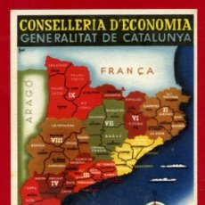 Postales: POSTAL GUERRA CIVIL, CONSELLERIA ECONOMIA GENERALITAT CATALUNYA 1936 , GRAFOS , ORIGINAL. Lote 32046326