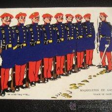 Postales: MIQUELETES DE GUIPÚZCOA. TRAJE DE GALA. I.G.URIARTE. POSTAL SIN CIRCULAR. Lote 35291025
