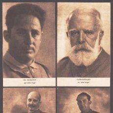 Postales: LOTE DE 4 POSTALES DE LA SERIE GENERALES FRANQUISTAS - VER DESCRIPCIÓN PARA MAS DETALLES. Lote 33708634