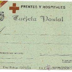 Postales: FRENTES Y HOSPITALES. TARJETA POSTAL. Lote 34099341