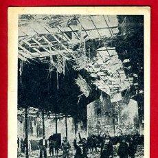 Postales: POSTAL GUERRA CIVIL, REVOLUCION FRENTE POPULAR INCENDIO PUENTE VALLECAS MADRID , ORIGINAL. Lote 34216984