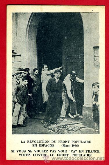 POSTAL GUERRA CIVIL, REVOLUCION FRENTE POPULAR, COMUNISTAS EN CASA PARTICULAR BARCELONA , ORIGINAL (Postales - Postales Temáticas - Guerra Civil Española)