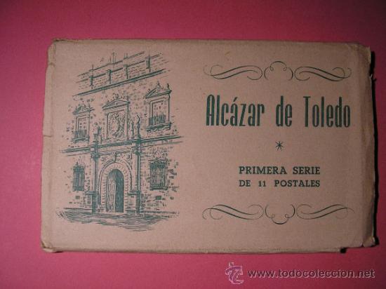 ALCAZAR DE TOLEDO,PRIMERA SERIE DE 11 POSTALES,EL GENERAL MOSCARDO,EL CAUDILLO EN EL ALCAZAR,FOURNIE (Postales - Postales Temáticas - Guerra Civil Española)