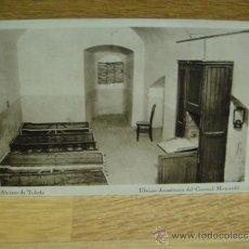 Postales: ALCAZAR DE TOLEDO - DORMITORIO DEL CORONEL MOSCARDO - SIN CIRCULAR , HAUSER Y MENET. Lote 34870147