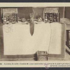 Postales: ALCAZAR DE TOLEDO - APARATOS DE RADIO Y BOMBAS CONSTRUIDAS CON CLAVOS DE LA P. - H. ARTE - (12.110). Lote 35016312