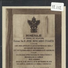 Postales: ALCAZAR DE TOLEDO - LAPIDA HOMENAJE A LOS DEFENSORES - H. ARTE - (12.112). Lote 35016350