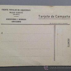 Postales: TARJETA POSTAL DE CAMPAÑA, GUERRA CIVIL, FRENTE POPULAR , MEDIO CUDEYO, SOLARES, SANTANDER. Lote 36535591