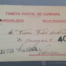 Postales: TARJETA POSTAL DE CAMPAÑA 114 BRIGADA MIXTA SECTOR POZOBLANCO REPUBLICANA. 1938. RARA. Lote 36541203