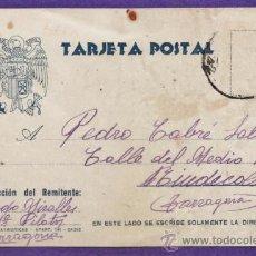 Postales: TARJETA POSTAL - R. MIRALLES /CARCEL PILATOS TARRAGONA / TGN A P.CABRE / RIUDECOLS -AÑO 1940. Lote 36650429