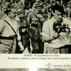 Postales: ALCAZAR DE TOLEDO, SEGUNDA SERIE DE 12 POSTALES, EL CAUDILLO FCO FRANCO EN EL ALCAZAR. Lote 36848224
