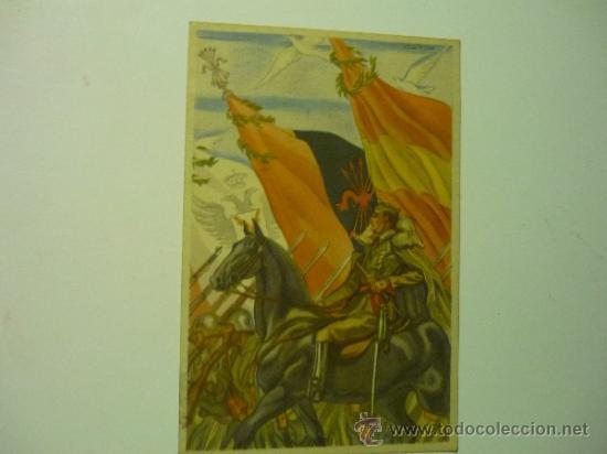 POSTAL COLECCION ARTIFICES DE LA VICTORIA .-EL CAUDILLO FRANCO (Postales - Postales Temáticas - Guerra Civil Española)