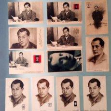 Postales: COLECCIÓN 12 POSTALES DIFERENTES JOSE ANTONIO, VARIANTES. GUERRA CIVIL. UNA CON SELLOS, VER FOTOS.. Lote 206757242