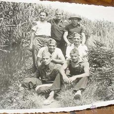 Postales: ANTIGUA FOTO POSTAL DE MILITARES REPUBLICANOS - MILICIANOS - GUERRA CIVIL EN CALELLA - BARCELONA - N. Lote 38245184