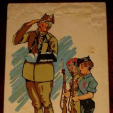 Postales: ANTIGUA POSTAL ILUSTRADA POR IRUARTE - GUERRA CIVIL - ESCRITA EN 1938 - NO CIRCULADA - CON DESPERFEC. Lote 38258348