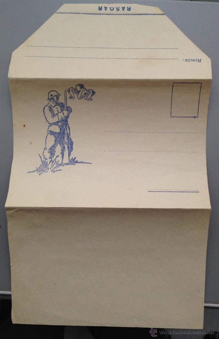 Postales: sobre carta ilustrado del SIA , solidaridad internacional Antifascista. Original época Guerra civil - Foto 2 - 41134839