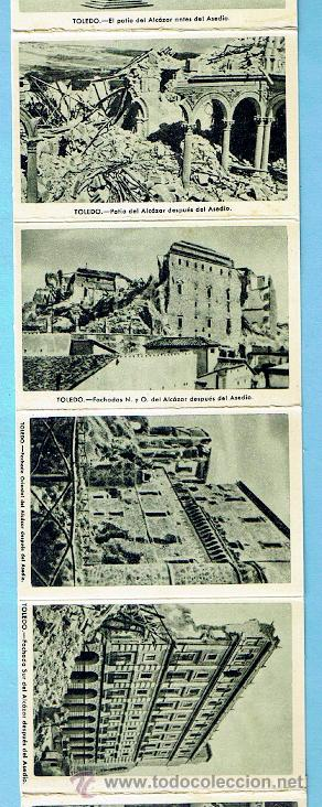 Postales: ALCAZAR DE TOLEDO. PRIMERA SERIE DE 11 POSTALES. GUERRA CIVIL - Foto 4 - 41797569