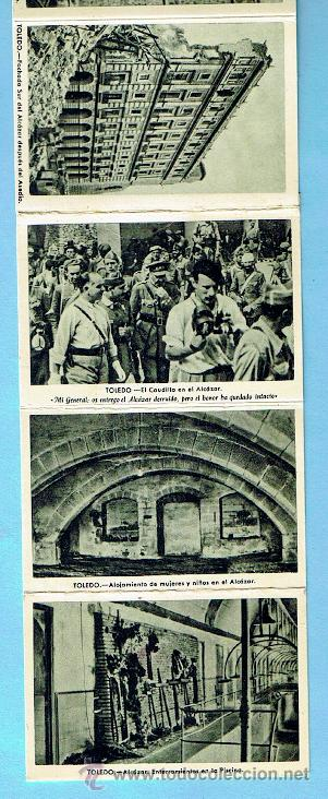 Postales: ALCAZAR DE TOLEDO. PRIMERA SERIE DE 11 POSTALES. GUERRA CIVIL - Foto 5 - 41797569