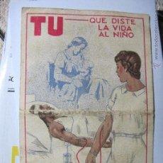 Postales: TARJETA POSTAL GUERRA CIVIL SERVICIO DE HOSPITALES AÑO 1938. Lote 42226853