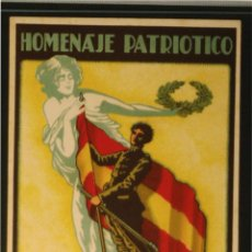 Postales: POSTAL ORIGINAL GUERRA CIVIL - REPUBLICANA - HOMENAJE PATRIOTICO. Lote 43220977