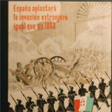 Postales: POSTAL ORIGINAL GUERRA CIVIL - REPUBLICANA - ESPAÑA APLASTARA. Lote 43221258