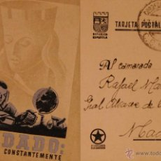 Postales: POSTAL ORIGINAL GUERRA CIVIL - REPUBLICANA - SOLDADO. Lote 43296440