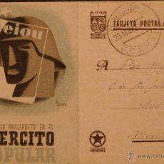 Postales: POSTAL ORIGINAL GUERRA CIVIL - REPUBLICANA - NI UN SOLO ANALFABETO. Lote 43296568