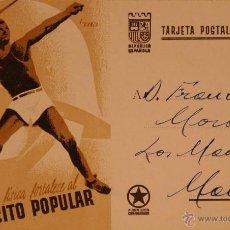 Postales: POSTAL ORIGINAL GUERRA CIVIL - REPUBLICANA - LA CULTURA FISICA. Lote 43318130