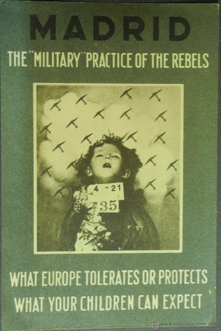 POSTAL ORIGINAL GUERRA CIVIL - REPUBLICANA - MADRID: THE MILITARY PRACTICE OF THE REBELS (Postales - Postales Temáticas - Guerra Civil Española)